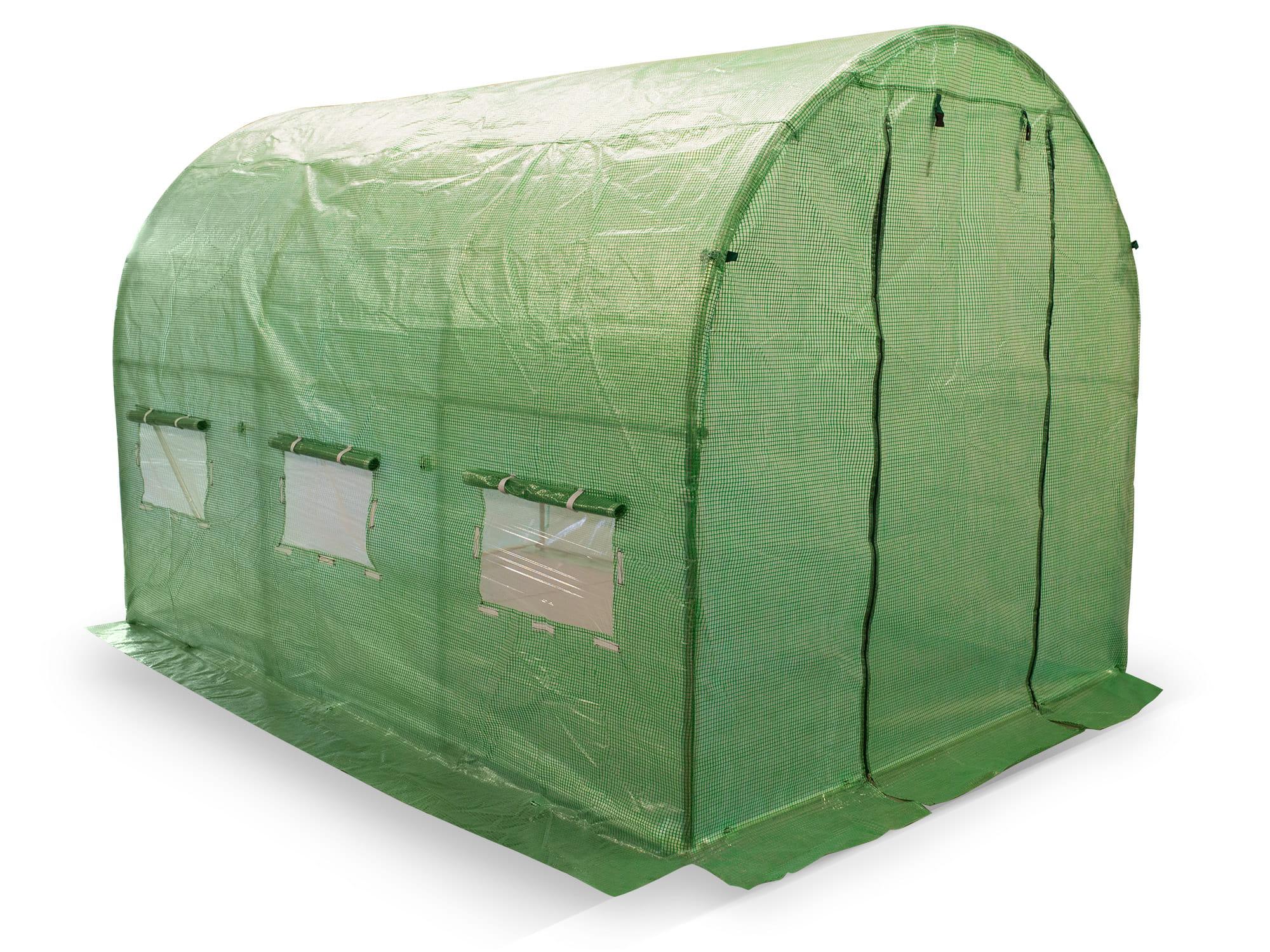 Tunel ogrodniczy 2x3 m wzmacniany zieloną siatką PP